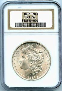 USA 1887 Morgan Silver Dollar NGC MS64