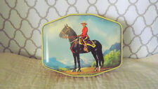 Old Vintage Horner Candy Tin Box Royal Canadian Mountie Police on Horse
