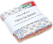 "Merry Go Round Moda Mini Charm Pack 42 100% Cotton 2.5"" Precut Squares"