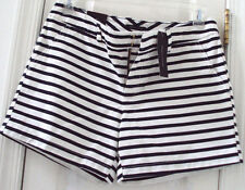 NEW TAG! TOMMY HILFIGER 8 NAVY BLUE & WHITE STRIPED CASUAL SHORTS $49.50
