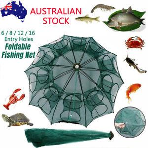 Foldable Fishing Net Fish Yabbie Shrimp Crab Bait Trap Cast Dip Cage