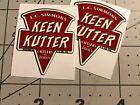 """Keen Kutter E.C.Simmons Decals Axe Tool 1 1/2"""" wide Set 2"""