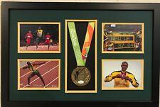 FRAMED USAIN BOLT JAMAICA SIGNED RIO OLYMPICS REPLICA GOLD MEDAL JSA COA