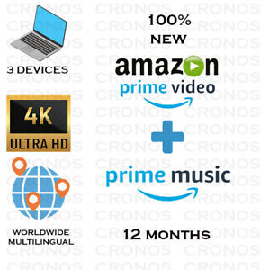 |12 MONTHS|AMAZON PRIME VIDEO + PRIME MUSIC| WORLDWIDE | FAST DELIVERY |