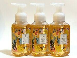 3 BATH & BODY WORKS PINEAPPLE MANGO GENTLE FOAMING HAND SOAP WASH 8.75 FL OZ NEW