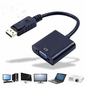 Displayport Stecker - VGA Buchse Adapter - DP auf zu to VGA Konverter black WOW