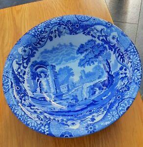 Vintage copeland spode blue italian fruit bowl/serving bowl