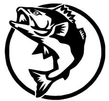 2 Aufkleber Angry Hunting Fish Fisch Auto Sticker Decal 12 Cm Tuning JDM