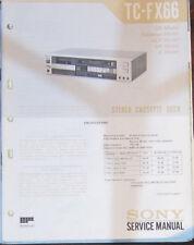 Sony TC-FX66 registratore a cassette Servizio di Riparazione Officina Manuale (copia originale)