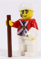 LEGO PIRATES IMPERIAL INJURED RED COAT SOLDIER MINIFIGURE - MADE OF GENUINE LEGO