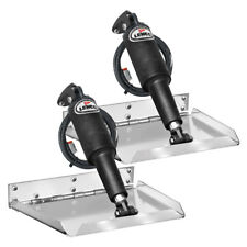 """Lenco Trim Tabs 4 Boat 12 volt 12"""" x 9""""  Edge Kit LED Complete Kit Auto Retract"""