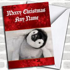 Bebé Pingüino Navidad Tarjeta Personalizada