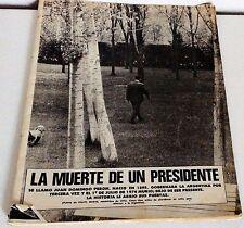 Magazine  Gente J. D. Peron la muerte de un presidente 1974
