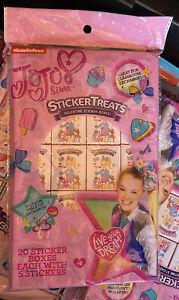 JoJo Siwa Sticker Treats Valentine Sticker Boxes 20 Count 5 Stickers in each box