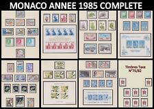 MONACO 1985 ANNEE COMPLETE Neuve** avec PREO Taxe + Blocs dont Europa Cote194€
