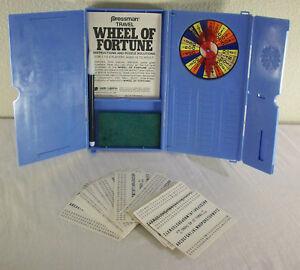 Wheel of Fortune Travel Size Game Pressman 1988 Vintage COMPLETE