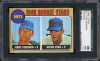 1968 Topps #177 Rookie Stars featuring Nolan Ryan SGC 98 GEM MINT