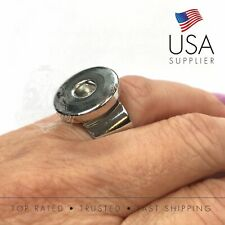 Snap Button Modern Design Adjustable Ring - Fits 18-20mm Snaps