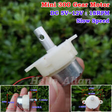 DC 5V-12V 18RPM Slow Speed Mini Worm Electric Gear Box Motor Speed Reduction DIY