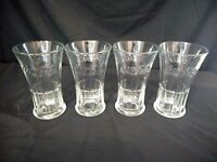 (4) Vintage Coca-Cola Libbey, Clear Embossed Glass Heavy Flared 16 oz Glasses