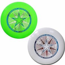 NEW Discraft ULTRA-STAR 175g Ultimate Frisbee Disc (2 Pack) GREEN/WHITE