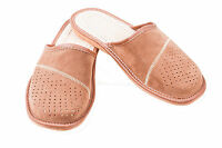 Mens Suede Leather Slippers Mules Brown Size 6 7 8 9 10 11 12 Flip Flop Sandals1