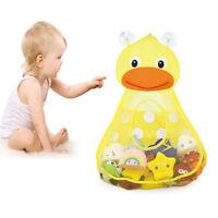 Baby Bathtub Toy Mesh Cute Duck Storage Bag Organizer Holder Bathroom Organiser
