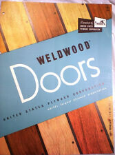 WELDWOOD Doors Catalog ASBESTOS Mineral Core United States Plywood Corp 1955