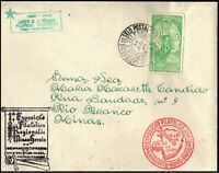 1940 Brazil Youth Philatelic Exhibition SHS to Rio Branco 400Rs Cover