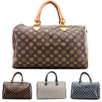 Ladies Women Duffel Style Handbag Gym Evening Travel Bag New