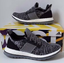 New adidas Pure Boost ZG Shoes Energy AQ6766 Black Gray White Ultra Prime Sz 8