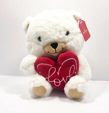Hallmark Plush Teddy Bear With Love Heart Pillow Valentine's Day Stuffed Animal