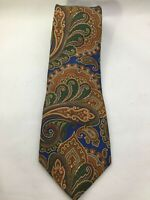 Mens Tie Colours by Alexander Julian blue paisley 100% Silk necktie Multicolors