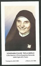 Estampa de la Hermana Tecla andachtsbild santino holy card santini