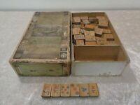 Antique Mahjong Game Vintage around 1920 Pung Wo Junior Shanghai - 144 Wood