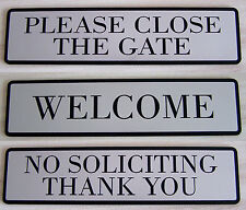 "Custom Laser Engraved Plastic Door Sign Front Door,Plate Wall 1.5"" x 6""/38x152mm"
