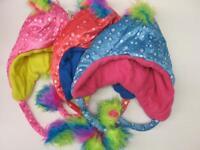 NEW Warm Winter Snow Fuzzy Rainbow Mohawk Hats Fleece Lining Kids Girls Boys