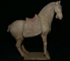 "11.2"" Ancient China Tang Sancai Pottery Dynasty Fengshui Zodiac War Horse Statue"