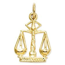 14k Solid Yellow Gold Scales Of Justice Charm - 4048A - SKU #118627