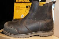 Site Prairie Brown Leather Chelsea Safety Dealer Boots Steel toe UK 11 - AA61