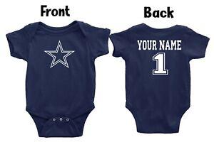 Dallas Cowboys Navy Homemade baby bodysuit.