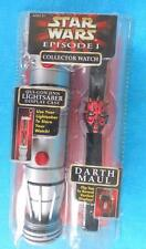 STAR WARS Episode 1 One ~ DARTH MAUL COLLECTOR WATCH & Lightsaber Display Case