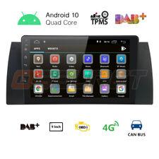 "9"" Android 9.0 Car HeadUnit Stereo Radio GPS DAB+ USB CANBUS BMW X5 E53 525i E39"