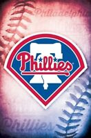 PHILADELPHIA PHILLIES ~ STITCHES LOGO 22x34 POSTER MLB Baseball NEW/ROLLED!