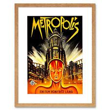 Vintage Movie Metropolis 1927 Sci Fi Future Framed Art Print 86 12x16 Inch