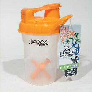 NWT Fit & Fresh BPA Free Jaxx Shaker Cup Carrying Handle 20 Oz Clear & Orange