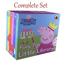 Peppa Pig Fairy Tale Little Library 6 Books Puzzle Gift Set Kids Collection UK