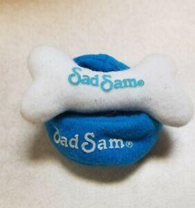 Applause SAD SAM soft blue dish & white bone toys (2 pc)