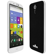 Skinomi Black Carbon Fiber Skin+Clear Screen Protector For Acer Liquid Zest Plus