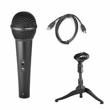 Sound Around Pyle - USB Dynamic Studio Microphone Set W/ Table Tripod Stand and